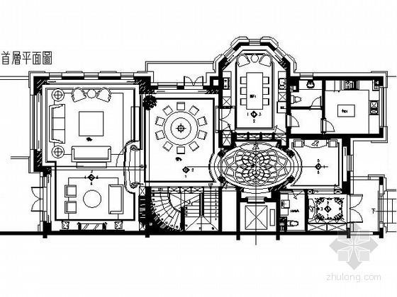 [大连]精装豪华别墅样板房施工图(含实景)