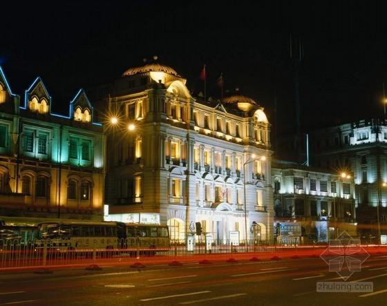 欧式建筑夜景图片下载