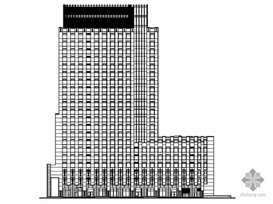 [深圳市福田中心区]某高层商务中心大厦建筑施工套图(骑楼、修改单、另有配套营销中心图纸)