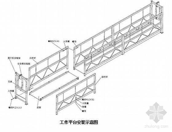 惠州某塔吊、吊篮及吊篮排栅平台施工方案