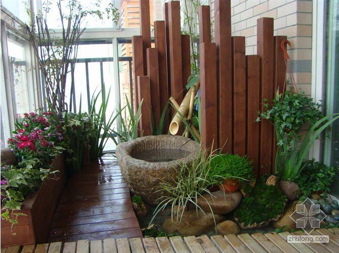 小庭院方案与施工实景