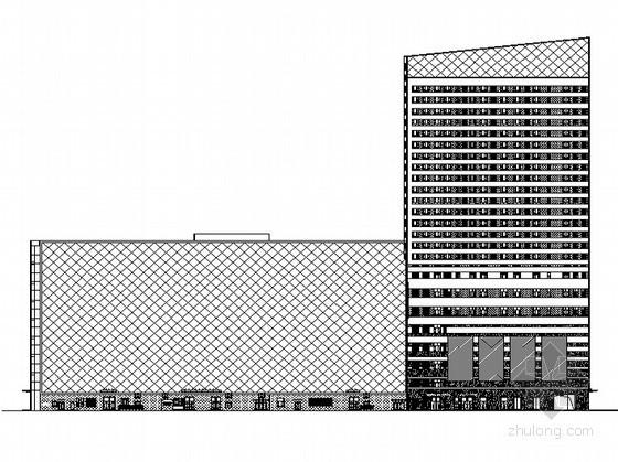 某现代豪华住宅家园(广场C座)底商住宅楼建筑施工图(含住宅人防)