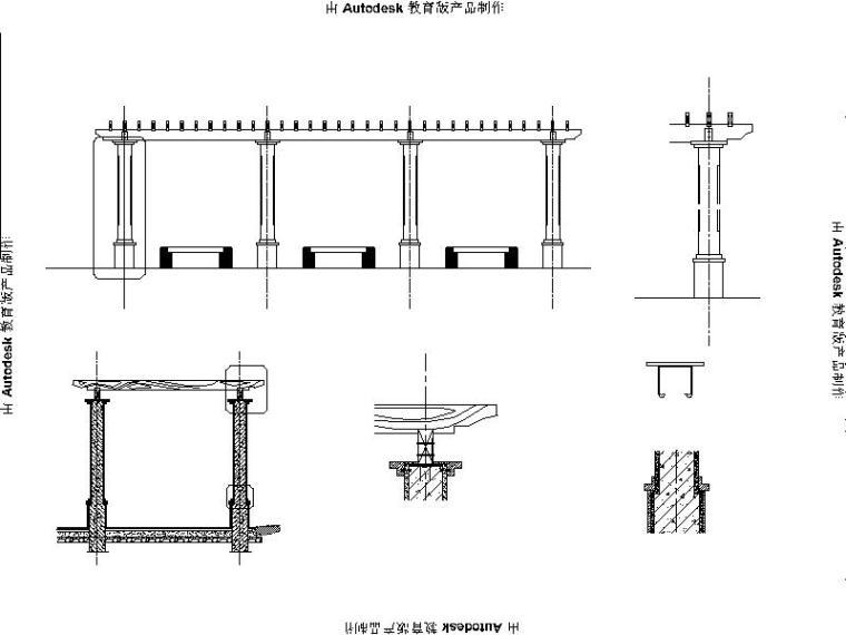 [浙江]省道大路交叉口景观绿化设计施工图(2016年独家最新)-花架