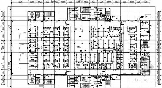 重庆某医疗中心空调平面图