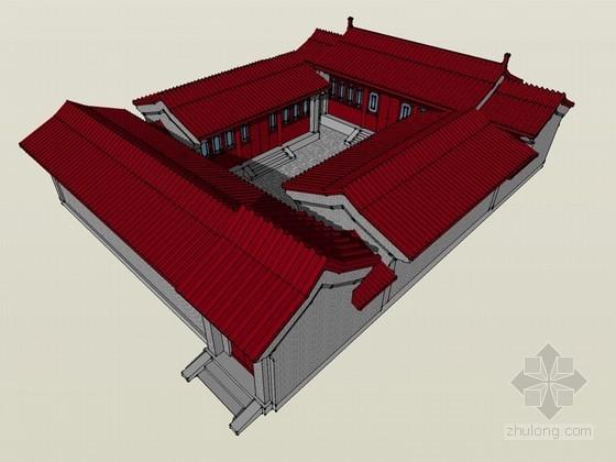 北京四合院SketchUp模型下载
