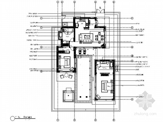 [海南]某国际休闲旅游度假新区别墅室内装修图