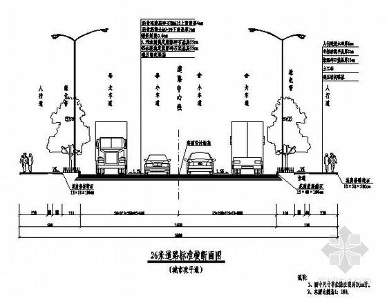 [重庆]双向四车道沥青玛蹄脂碎石面层山区道路设计图纸67张(路宽26m)