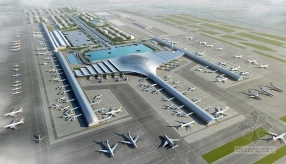 [河南]单个一体化屋顶枢纽机场建筑设计方案文本