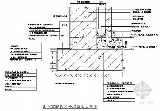[四川]住宅楼地下室工程施工方案(附防水大样图)