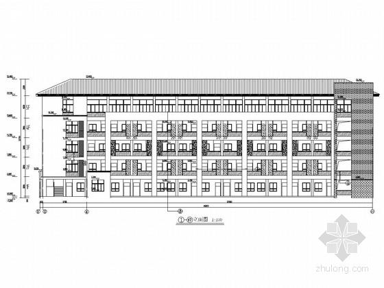 [浙江]五层L型框架结构小学综合楼结构施工图(含建筑图)