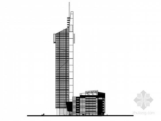 [江苏]37层企业办公楼建筑施工图(上海知名公司设计)