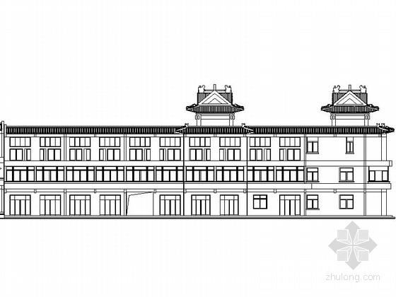 [吉林]某三层仿古立面沿街商铺建筑扩初图
