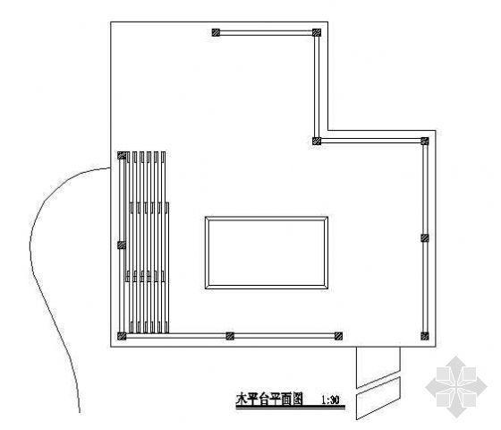 木质景观平台施工图