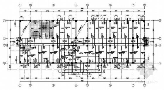 四层框剪结构武警营房结构施工图