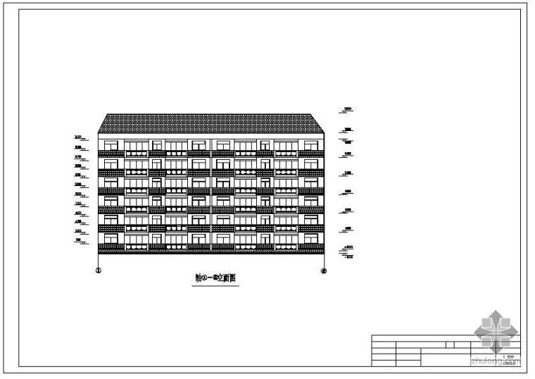 [学士]某框架住宅毕业设计(含计算书、建筑结构设计图)