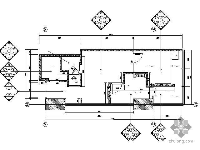 [江苏]两居样板房装修竣工图