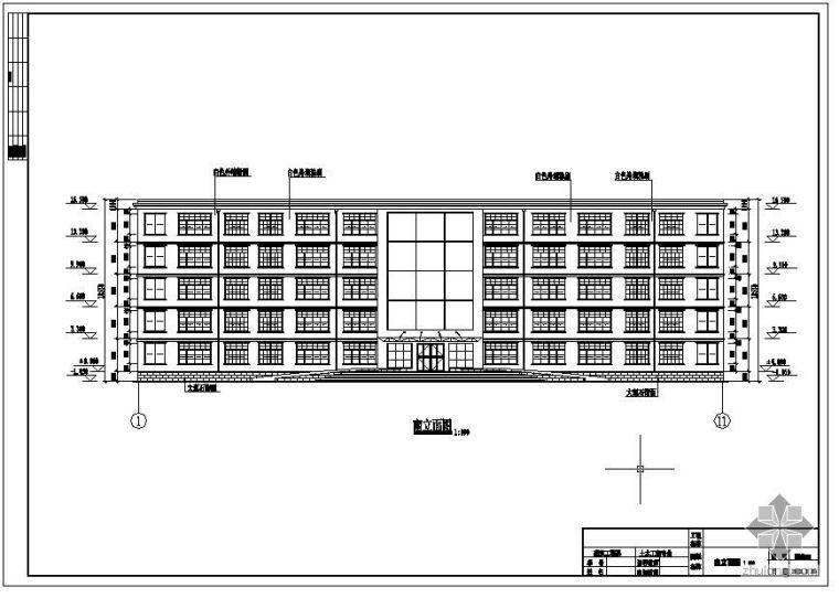 [学士]某西安路社区服务中心毕业设计(含计算书、建筑结构设计图)