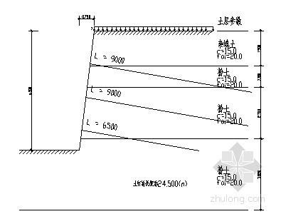 [河南]基坑支护设计施工方案(土钉墙 锚杆 计算书)