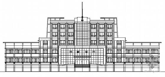 枣庄某公司六层转角式办公楼建筑施工图