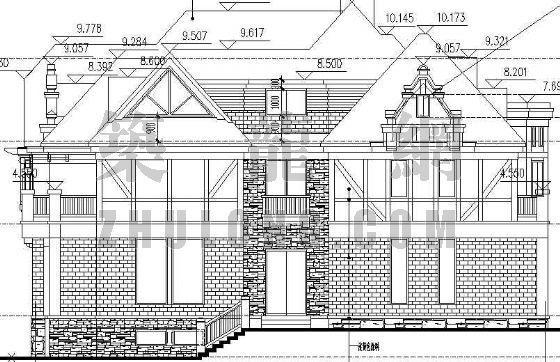 某德式多坡四联排别墅建筑设计方案-3