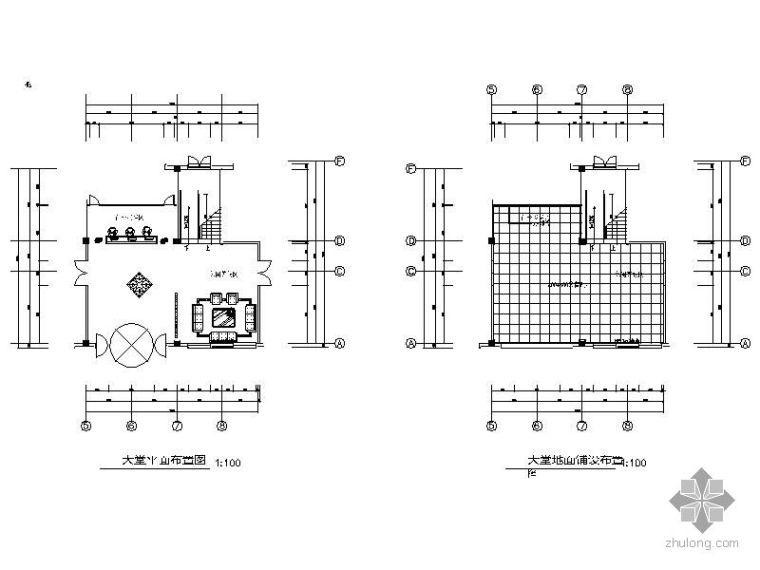 某公司办公楼大堂平面图