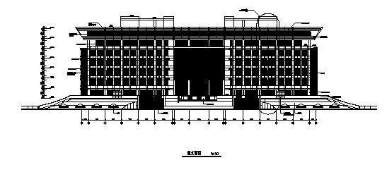 [上海]某大学图书馆建筑施工图(含结构图纸)