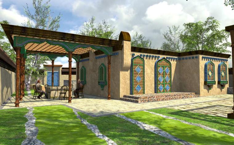 新疆某县多来提巴格乡塔格吾斯塘村村庄规划景观设计文本_1