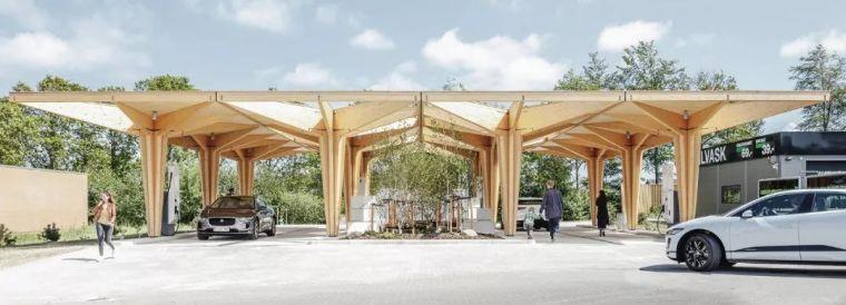 丹麦,腓特烈西亚,超高速充电站/COBE建筑事务所