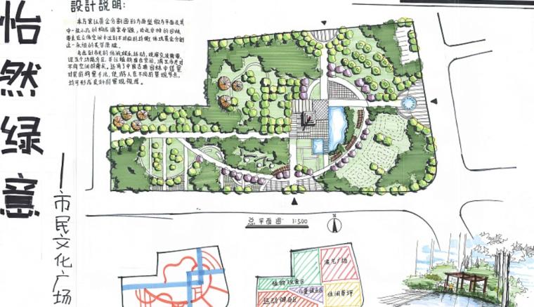 30套景观广场快题手绘设计方案