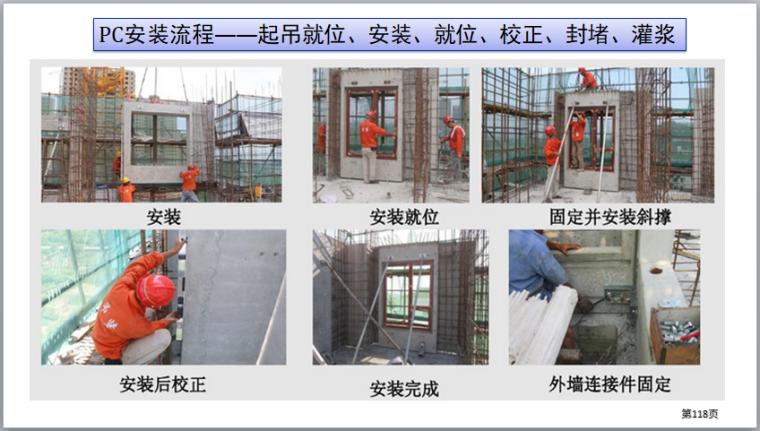 装配式建筑施工安全培训(图文并茂)-PC安装流程——起吊就位、安装、就位、校正、封堵、灌浆