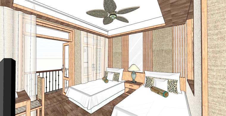 [云南]西双版纳布谷鸟咖啡客栈室内空间设计方案文本