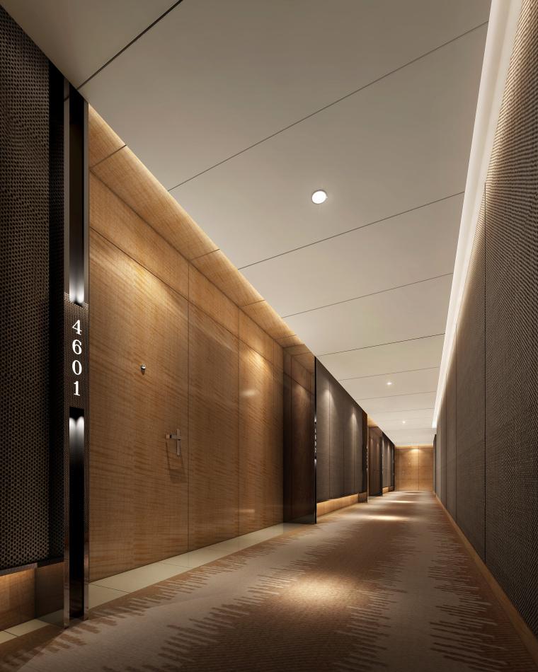 中山希尔顿酒店设计施工图(附效果图)-中山国际金融中心酒店-客房走道2011-2-22