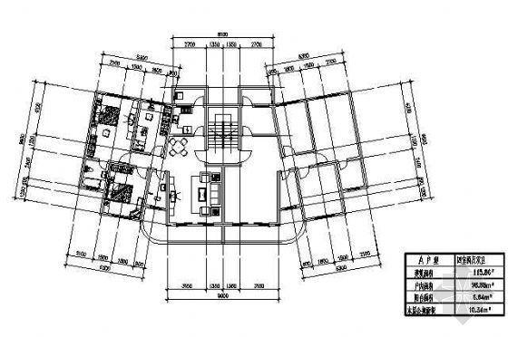 三室两厅一厨两卫115.86平米