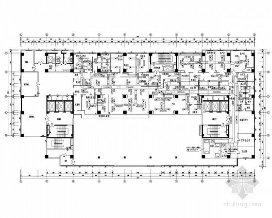[陕西]医院科室净化工程施工图(含结构水电 医用气体)