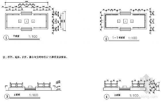 升旗台建施详图-4