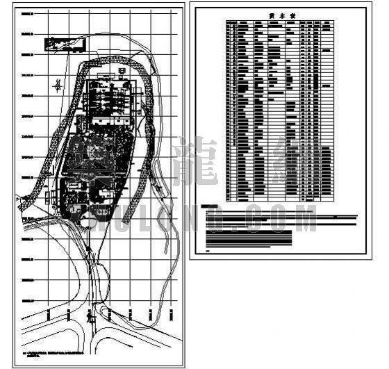 某垃圾处理厂区绿化总平面图-2