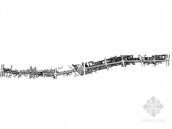 [温州]宽敞大道两侧景观改造设计施工图