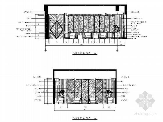 [南京]国家旅游景区现代科技活动中心室内装修施工图(含效果)贵宾接待室立面图