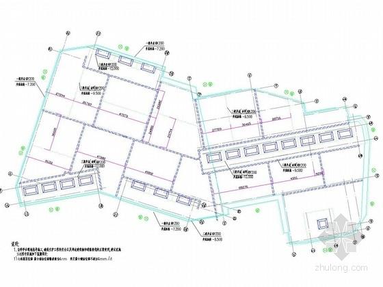 土钉墙基坑支护及井点降水施工图