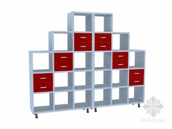 现代格子柜3D模型下载