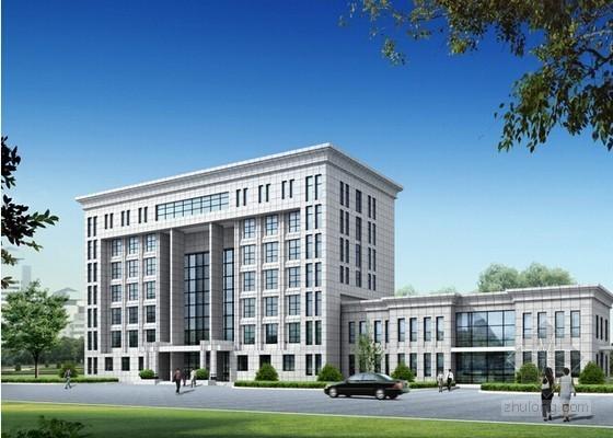 4层框架结构办公楼钢筋混凝土工程量计算实例(手稿)