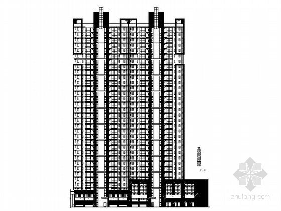 [福建]现代风格高层住宅区安置房建筑施工图(含小区所有楼栋)