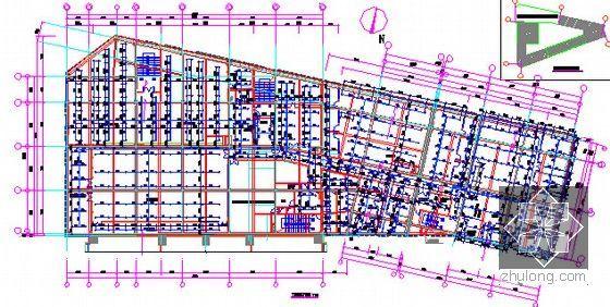 [广东]2015年广场文化活动中心装修工程预算书(附施工图纸)-13三层喷淋平面图
