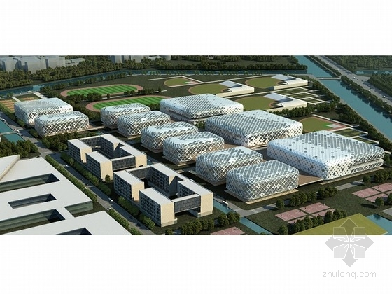 [上海]6层田园结构体育训练基地规划设计方案文本