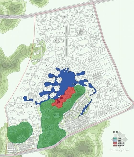 现代风格高层住宅区规划分析图