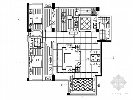 独家设计现代简约时尚三室两厅装修图(含效果)