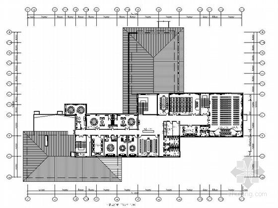 [青岛]独具园林特色恬静禅意温泉度假村酒店装修施工图(含效果)
