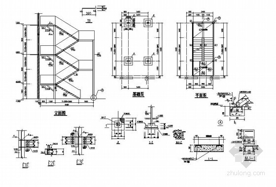 某钢楼梯结构图及计算书