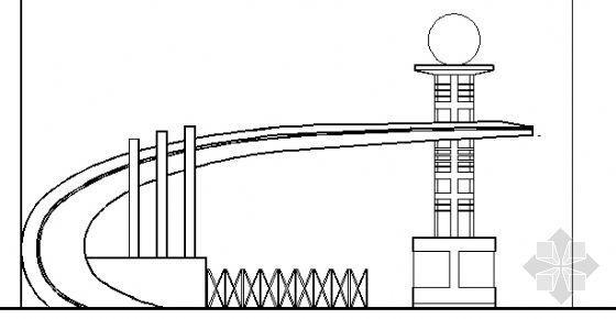 某艺术大门楼建筑施工图