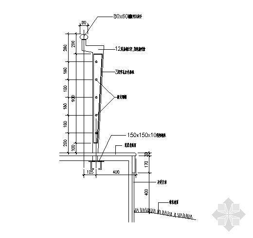 栏杆详图1-2